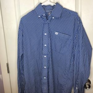 Men's CINCH Long sleeve button down shirt XS